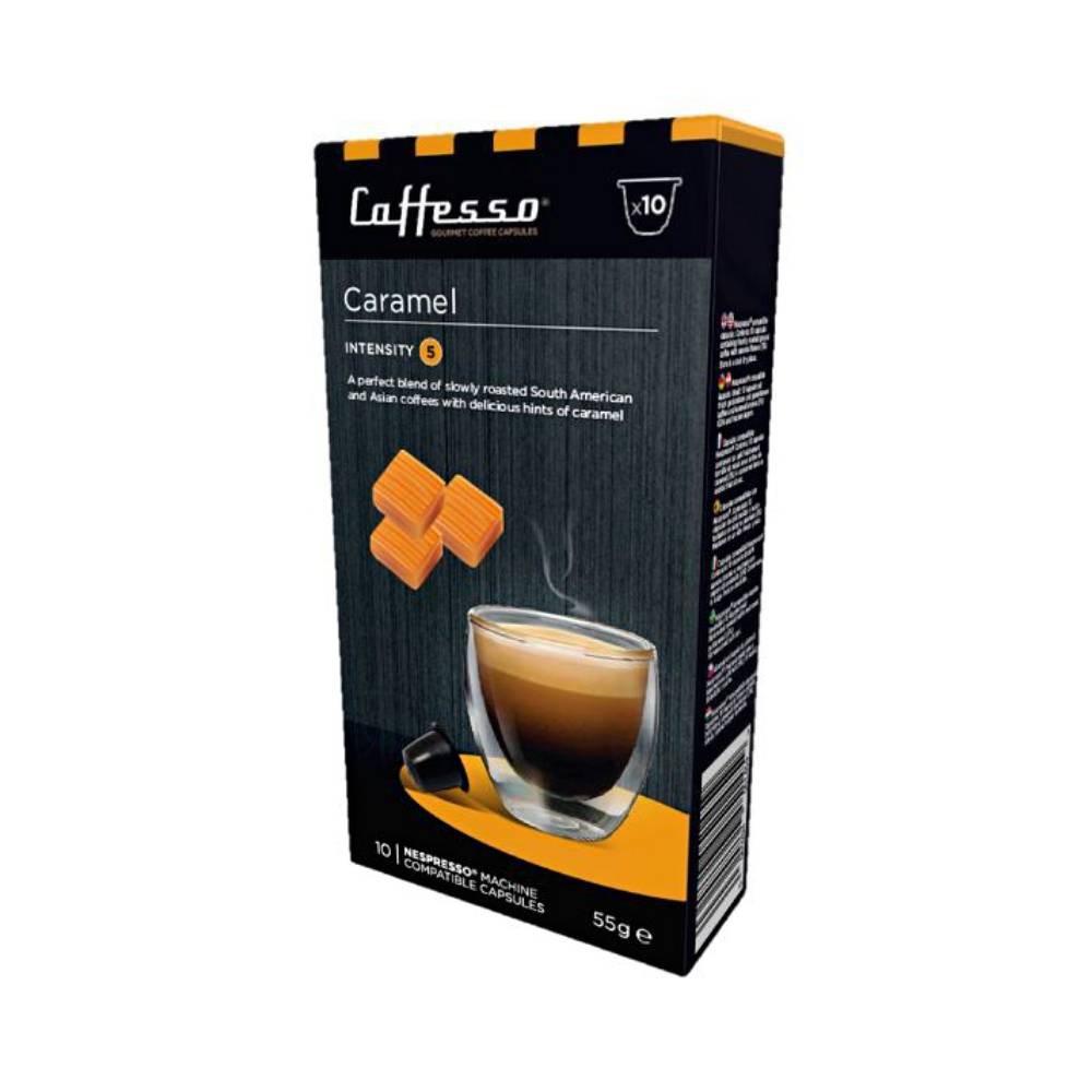 Cápsulas de café sabor caramel