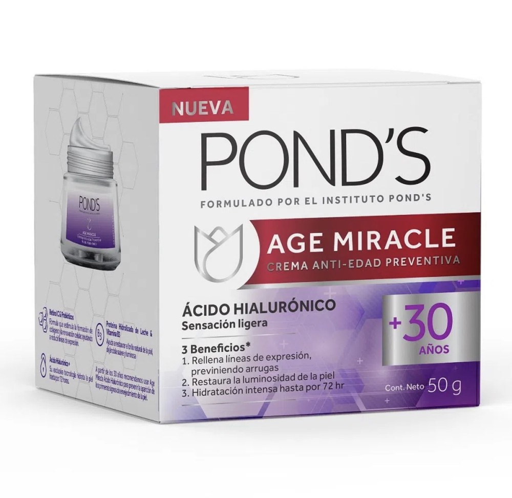 Crema Age Miracle ácido hialurónico