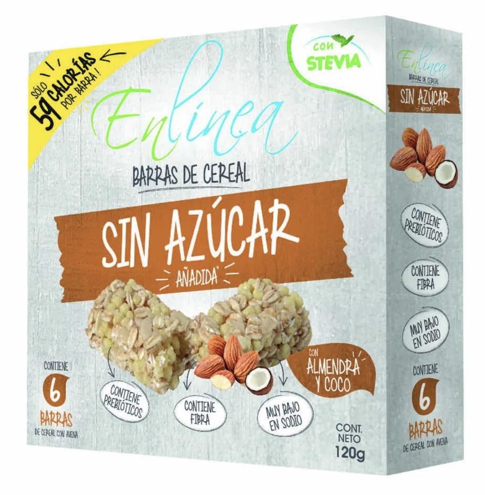 Pack barra cereal sin azúcar almendra