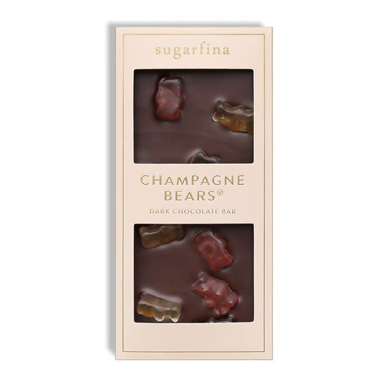 Champagne bears milk chocolate bar