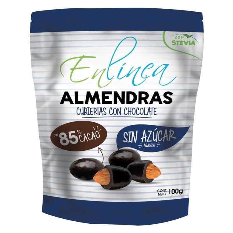 Almendras cubiertas con chocolate 100 g