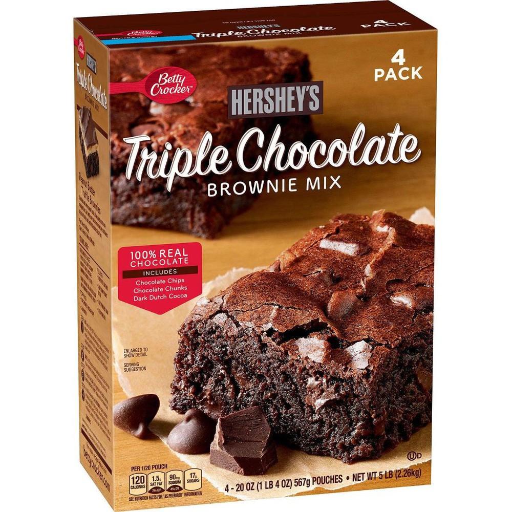 Mezcla brownie triple chocolate hershey's