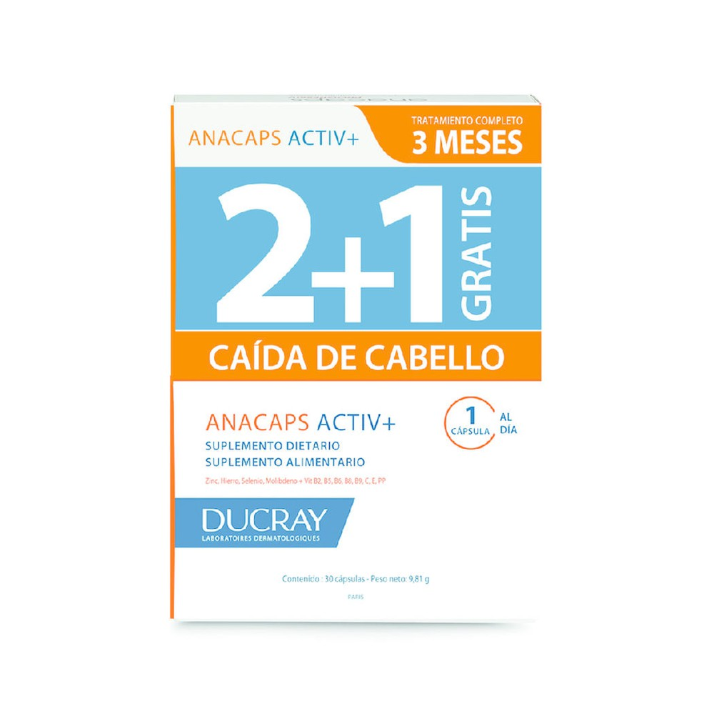 Anacaps Activ+ tratamiento anticaída del cabello