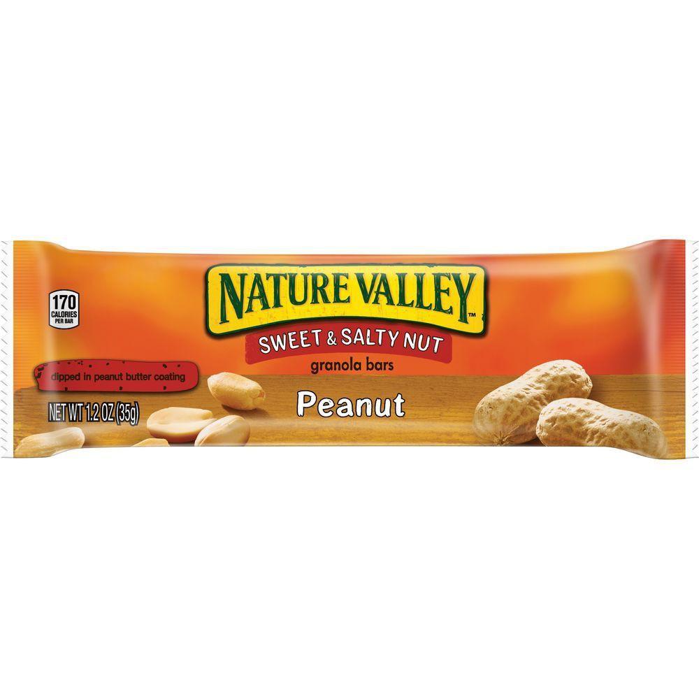 Barritas de maní y mantequilla de maní nature valley