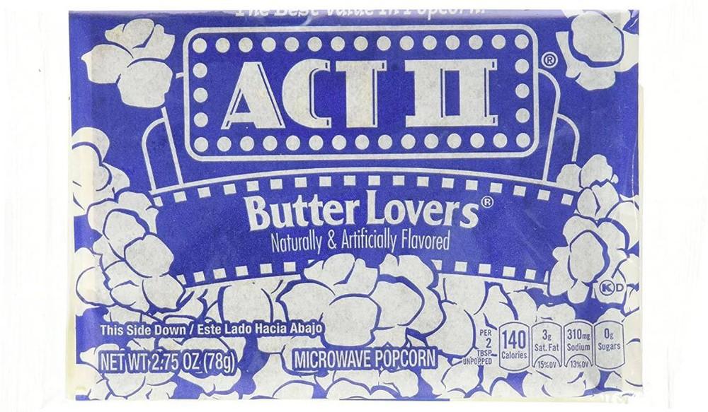 Cabritas con mantequilla act ii  para microondas