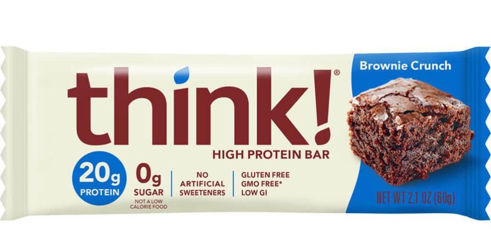 Barrita de proteínas think! brownie crunch