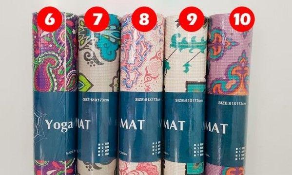 Mat de yoga 6 mm con diseños ( preguntar por color)