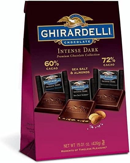 Chocolates oscuros intensos ghirardelli premium collection
