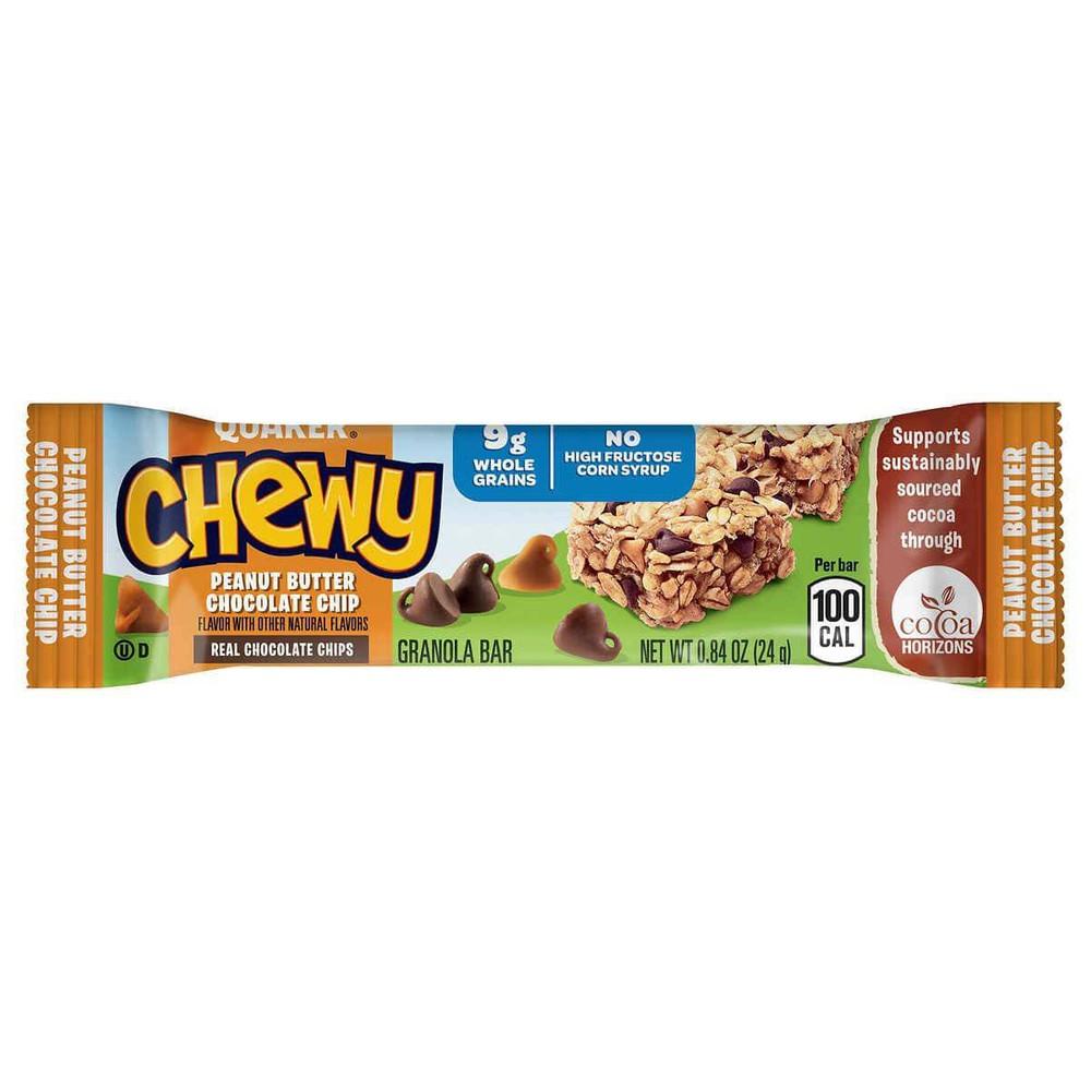 Barritas de granola con mantequilla de maní y chips de chocolate