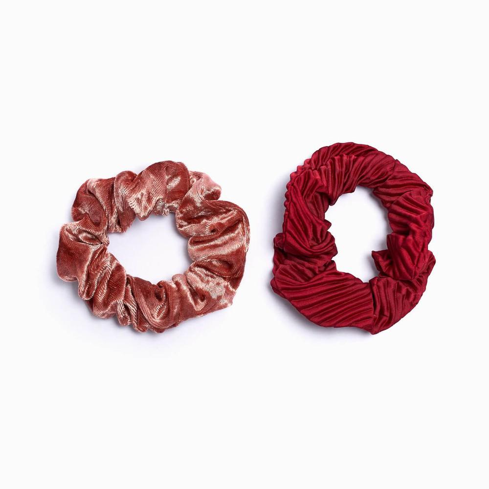 Pack collet velvet - textura rojo