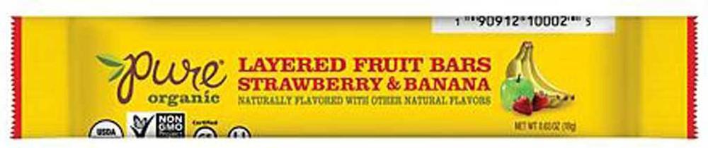 Barritas sabor frutilla-plátano