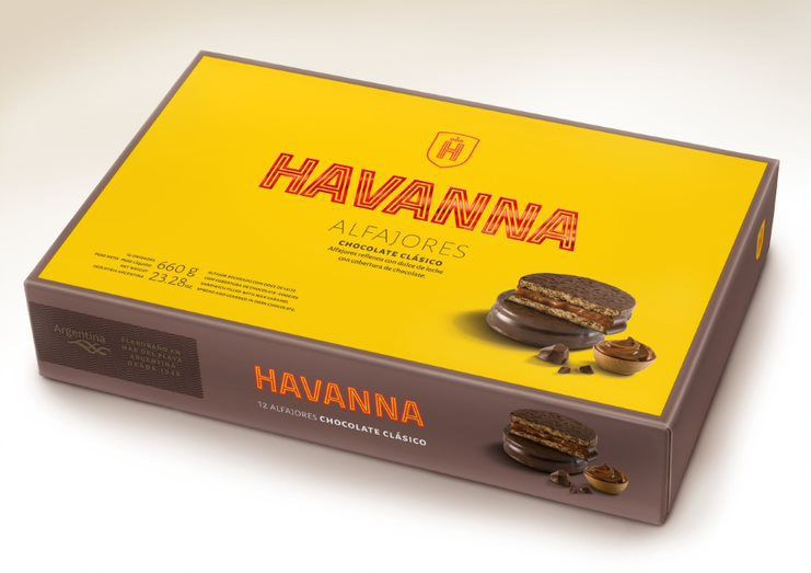 Alfajor chocolate Caja 12 un