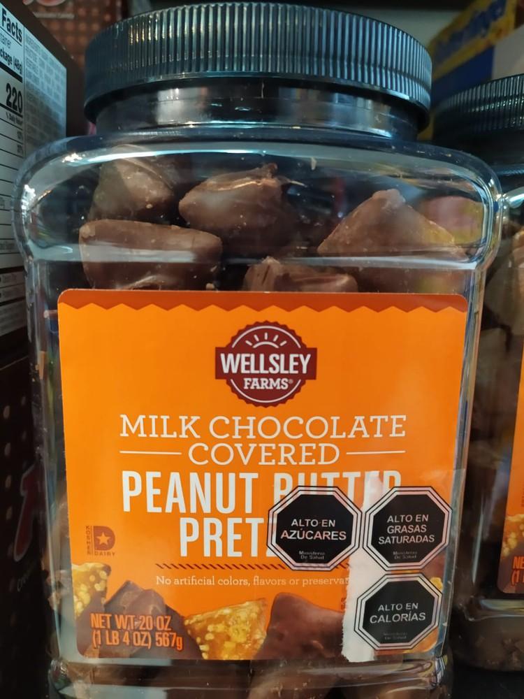Wellsley farm milk chocolate peanut butter pretzels 567g