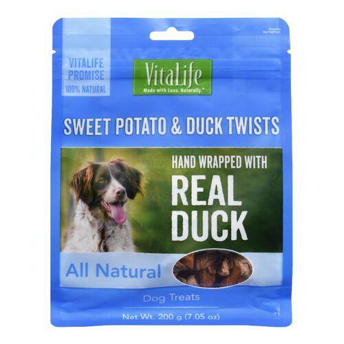 Sweet potato & duck twists dog treats