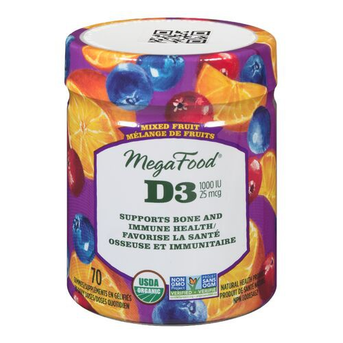 D3 multivitamin mixed fruit gummy