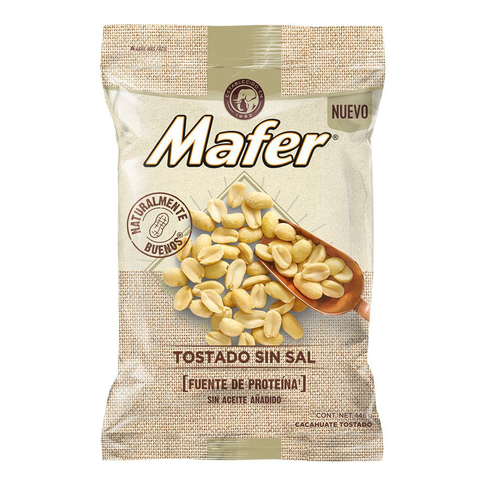 Cacahuate tostado sin sal