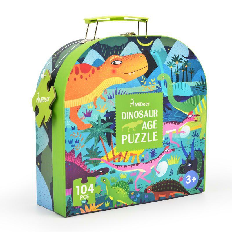 Mideer puzzle maleta dinosaurio
