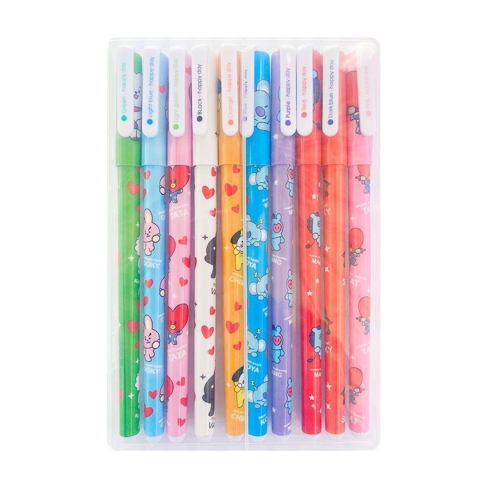 Lápices BTS BT21 10 unidades - tinta colores