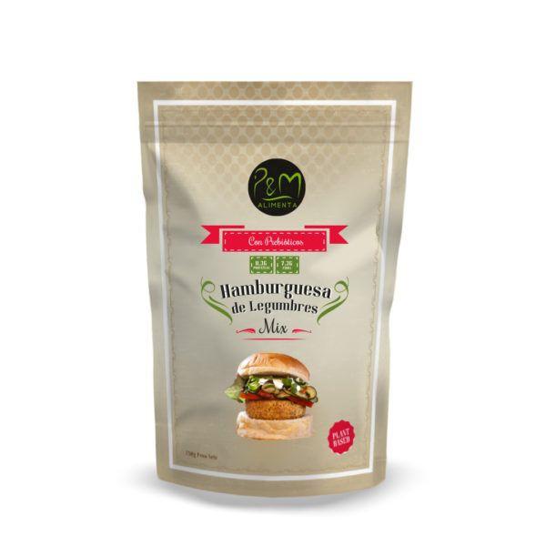 Hamburguesa pre mix legumbres pym 250 gr