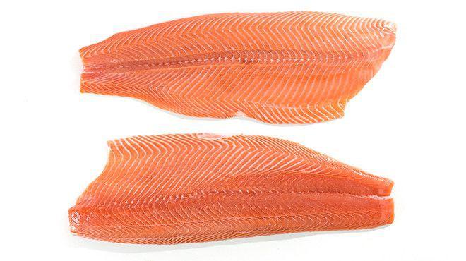Salmón filete sin piel Precio por kg, 1 un 800-1200 g aprox