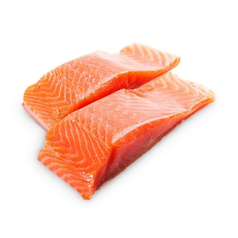 Salmón porción sin piel envase individual al vacio Entre 160 y 220 grs cada porción