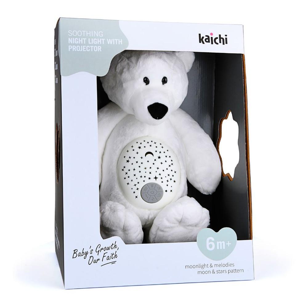 Peluche oso con proyector de luz y música 6m +