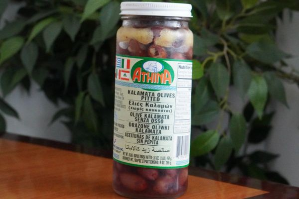 Pitted kalamata olives in vinegar and olive oil 16 OZ