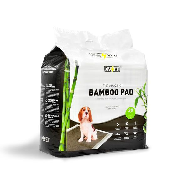 Alfombra sanitaria 60 x 40 cm Bamboo pads mini Bolsa 30 u