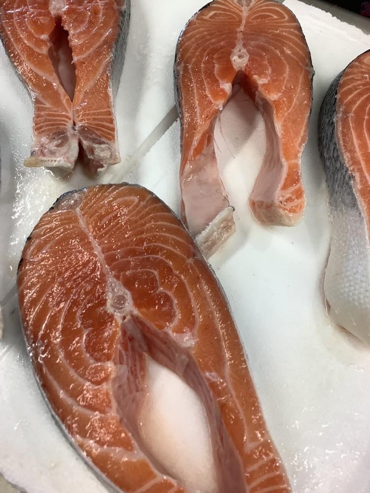 Scottish salmon steak