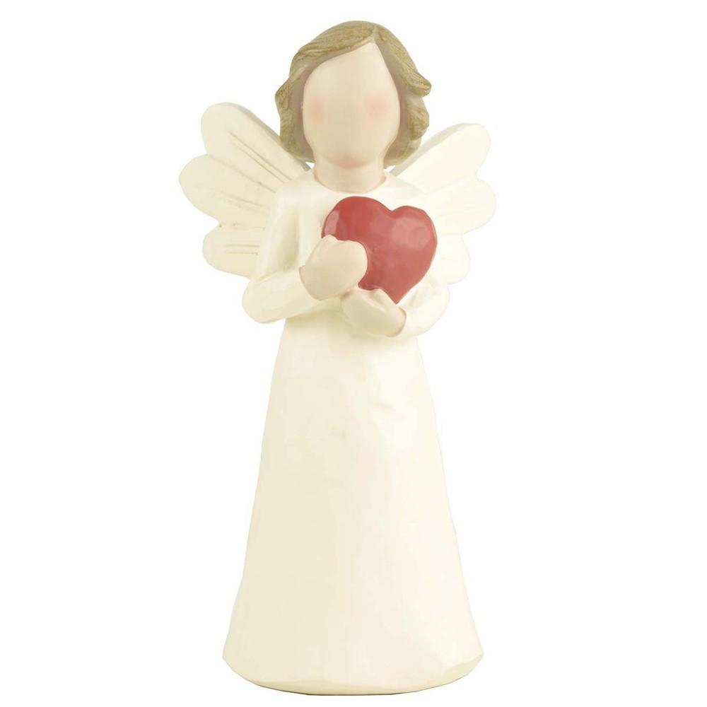 Angel con corazón Medidas: Largo:14,8 cms / Ancho: 7,5 cms / Profundidad:6,5 cms  Peso: 100 grms