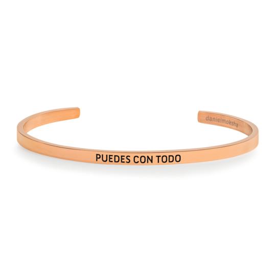 Pulsera puedes con todo rose gold