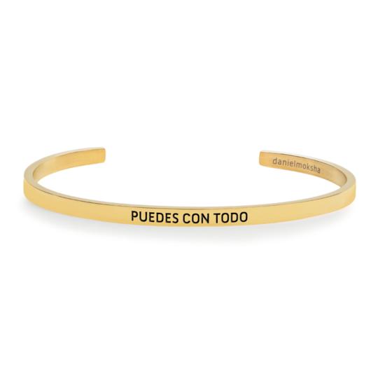 Pulsera puedes con todo dorada