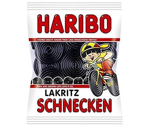 Haribo lakritz schneken (black licorice)