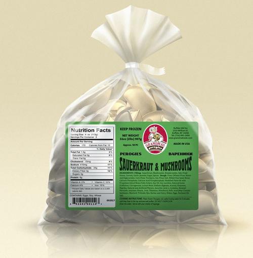 Grandma's pirogies - sauerkraut w/ mushrooms