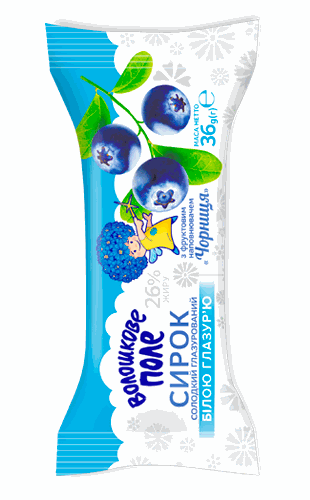 Sweet cheese snack bilberry