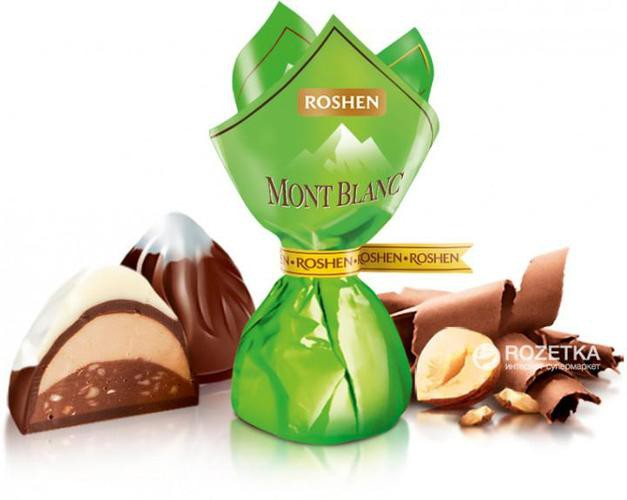 """Roshen """"mont blanc"""" with cream praline & chopped hazelnuts"""