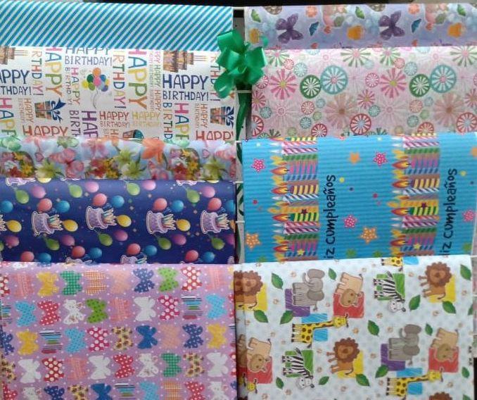 Pliego de papel de regalo cumpleaños y ocasion pliego de papel de regalo cumpleaños y ocasion