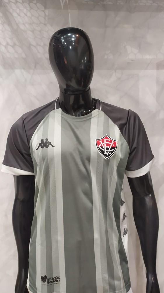 Camisa oficial vitória goleiro III 19/20 cinza