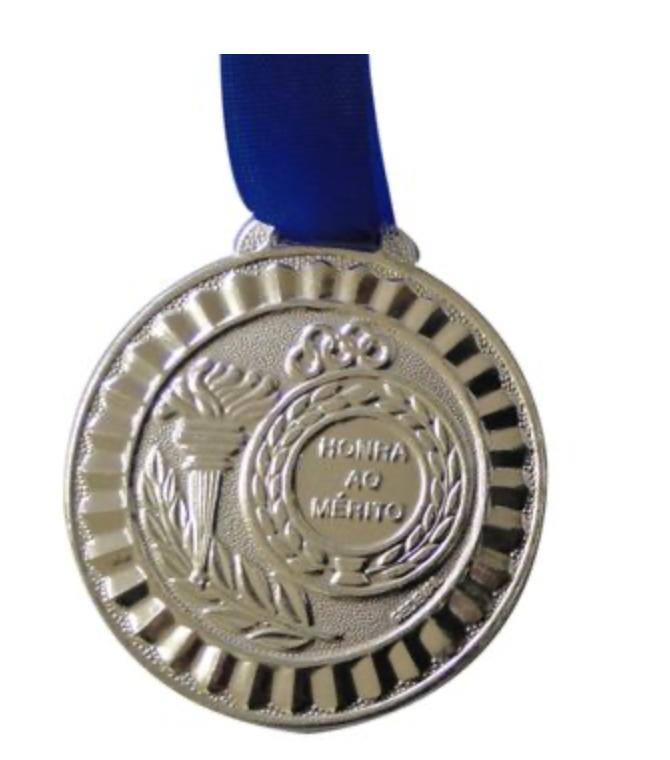 Medalha de prata simples