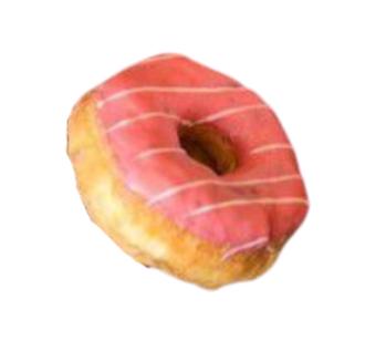 Donut frutas vermelhas