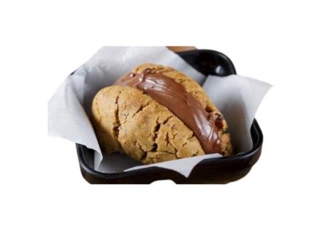 Sanduiche de cookie dark com nutella