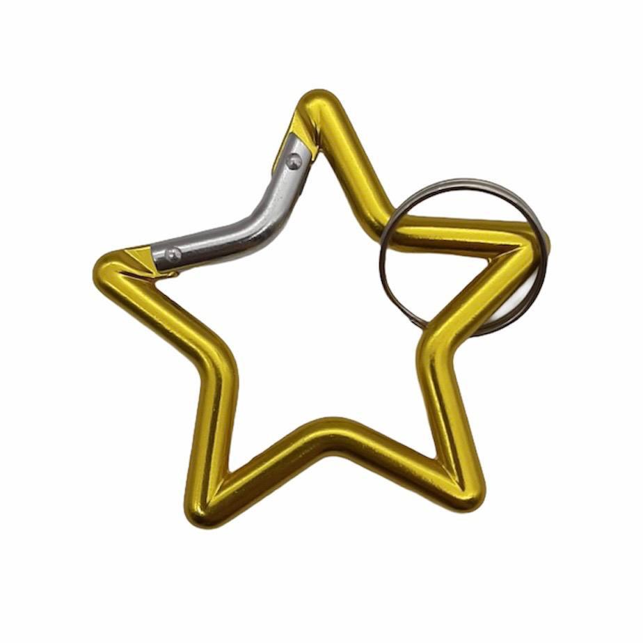 Llavero metálico estrella dorada