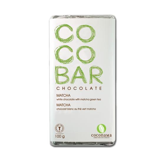 Cocobar matcha white chocolate bar