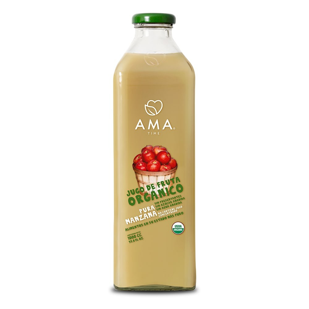 Jugo de manzana orgánica