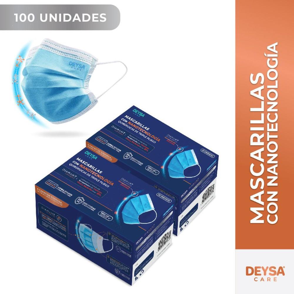 Mascarillas tipo llR con Nanotecnología, 2 cajas, 50 un c/u 2 Display de 50 unidades c/u (100 un).