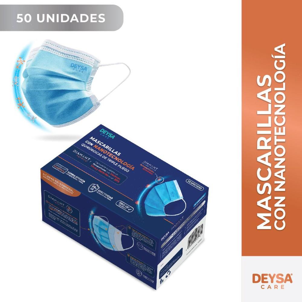 Pack mascarillas Nanotecnología celeste Caja 50 u