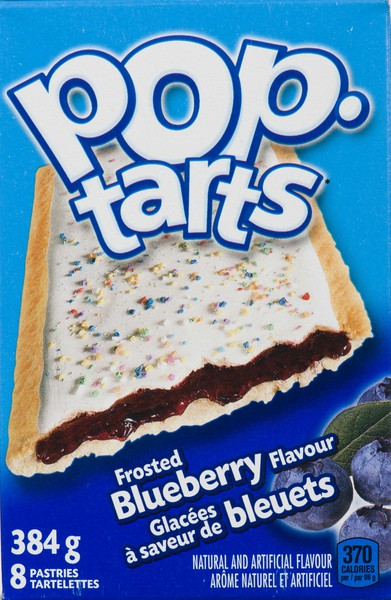 Frosted blueberry pastries