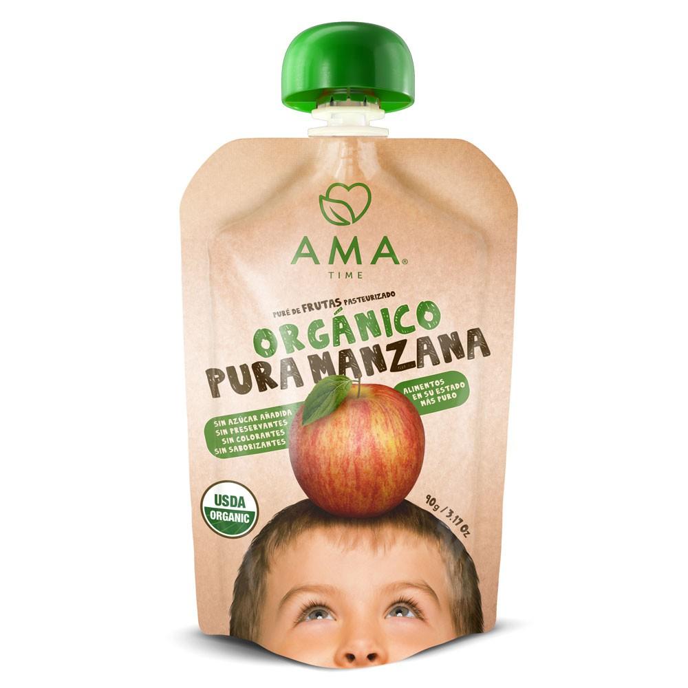 Puré de manzana orgánica 90 g