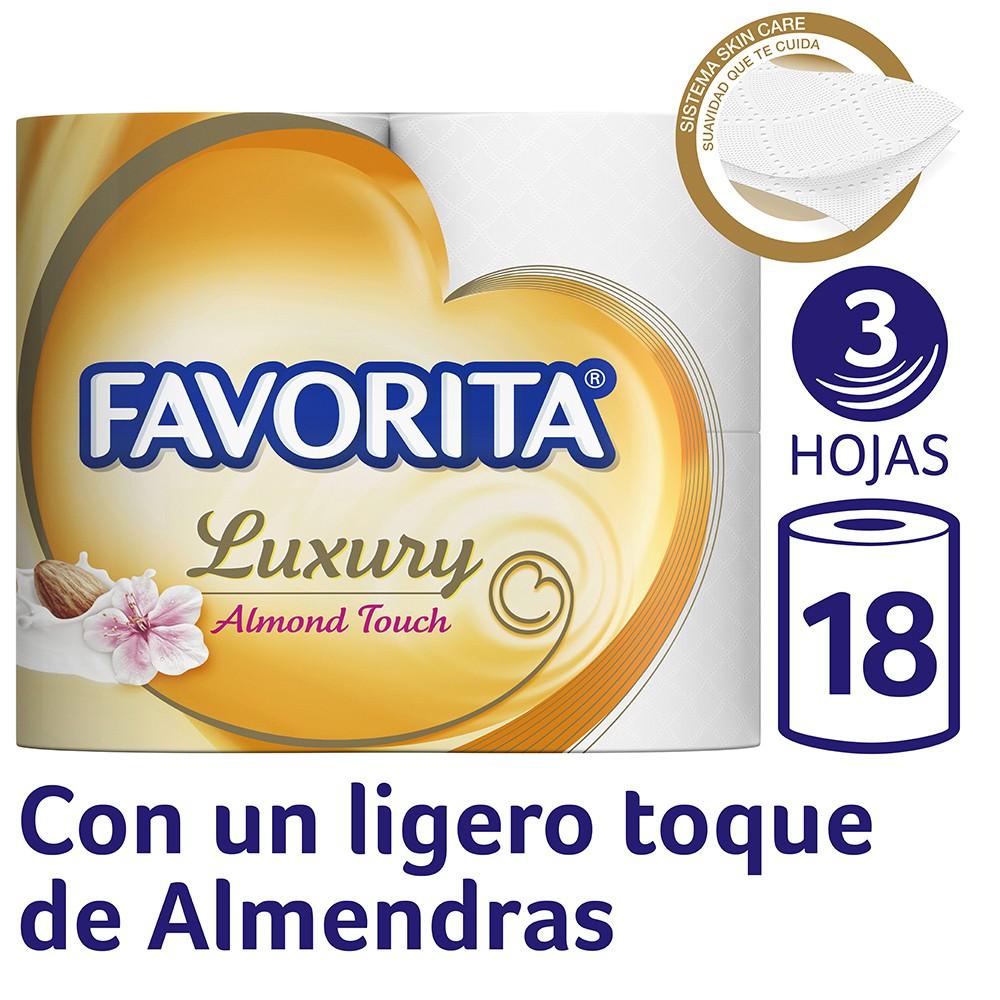 Papel higiénico triple hoja Luxury Almond Touch