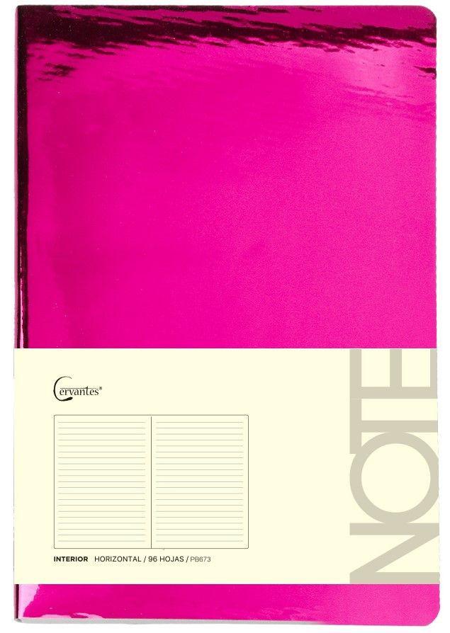 Cuaderno p/nota a5 c/elastico brillo 210mmx145 cm x 96 hjs (mp)